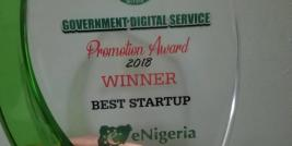 2018 Winner Best Start-Up eNigeria